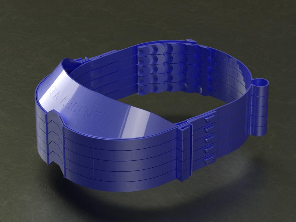 facial_saginau_optimizada_margen_de_visera_maximo_render-Temp0049.png Download free STL file Enhanced Face Protection 36grams, can be printed stacked • Design to 3D print, saginau