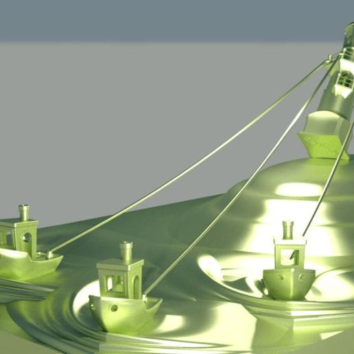 escena_nadidad_levantando_para_stl-Temp0009.png Download free STL file Christmas scene ,Lighthouse - 3DBenchy • 3D printing object, saginau