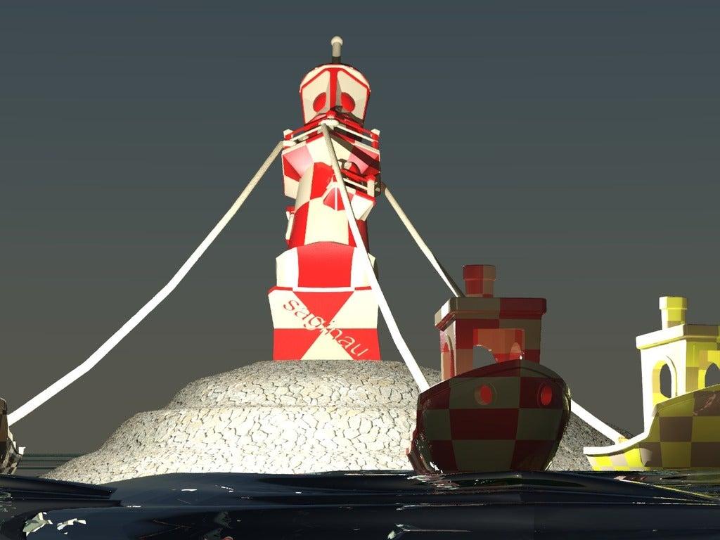 escena_nadidad_levantando_el_faro-Temp0016.png Download free STL file Christmas scene ,Lighthouse - 3DBenchy • 3D printing object, saginau