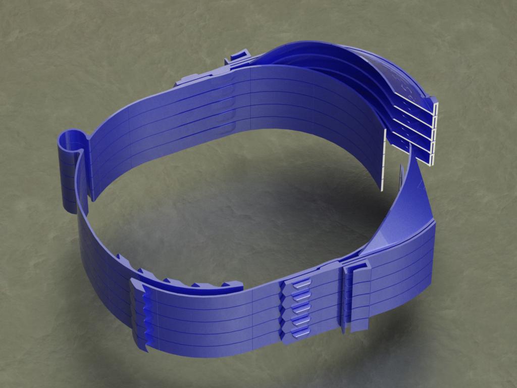 facial_saginau_optimizada_margen_de_visera_maximo_render-Temp0048.png Download free STL file Enhanced Face Protection 36grams, can be printed stacked • Design to 3D print, saginau