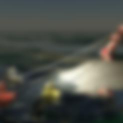 escena_nadidad_levantando_para_stl.stl Download free STL file Christmas scene ,Lighthouse - 3DBenchy • 3D printing object, saginau