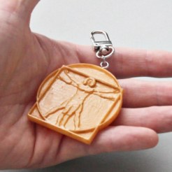 Download free 3D print files Vitruvian Man Keychain Accessory, GabrielYun