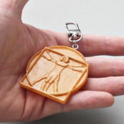 Modelo 3D Accesorio para llavero de hombre de Vitruvian gratis, GabrielYun