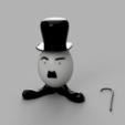 Télécharger fichier 3D gratuit Easter Egg Gentleman, GabrielYun
