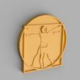 Free 3D printer files Vitruvian Man Keychain Accessory, GabrielYun