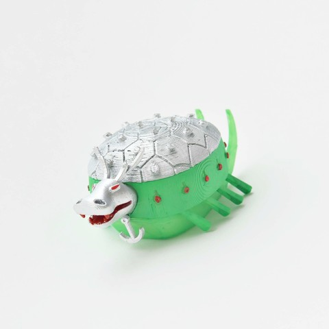 Printed, colored, assembled.jpg Download STL file Baby Turtle Ship • 3D print template, GabrielYun