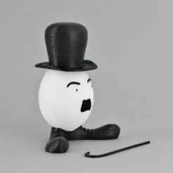 Download free STL file Easter Egg Gentleman • Template to 3D print, GabrielYun