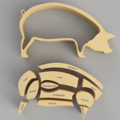 Download STL file Pork Puzzle • Template to 3D print, GabrielYun
