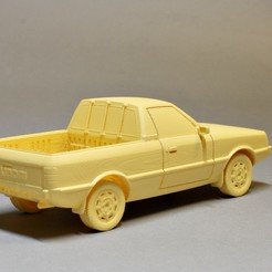 pony rr qt.jpg Download STL file Hyundai Pony Pickup 1989 • Object to 3D print, GabrielYun