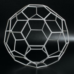 Download STL file Elastic Hexaball (Spherical polyhedron) • 3D printing model, GabrielYun