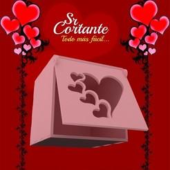 CAJITAS_MUESTRA06.jpg Download STL file BOX VALENTINE'S DAY • Object to 3D print, SrCortante