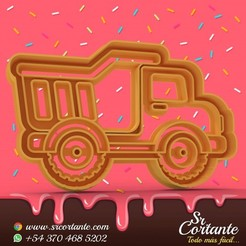 0847.jpg Download STL file COOKIE CUTTER DUMP TRUCK CONSTRUCTION THEME - CUTTING COOKIES CONSTRUCTION THEME • 3D printable design, SrCortante