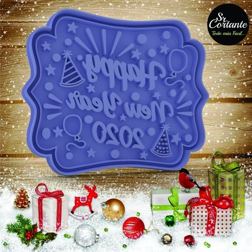 Download 3D printer files CUTTER OF COOKIES HAPPY NEW YEAR, SrCortante