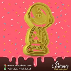 0579.jpg Download STL file THEME SNOOPY COOKIE CUTTER - COOKIE CUTTER • 3D printing model, SrCortante