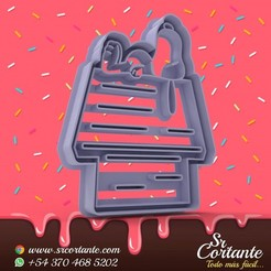 0577.jpg Download STL file THEME SNOOPY COOKIE CUTTER - COOKIE CUTTER • 3D printing model, SrCortante
