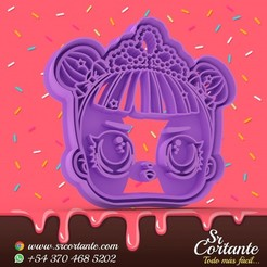 0325.jpg Download STL file THEME LOL DOLL COOKIE CUTTER - COOKIE CUTTER • 3D printer object, SrCortante