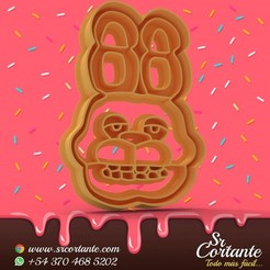 0656.jpg Download STL file THEME ANIMATRONIC COOKIE CUTTERS - COOKIE CUTTER • 3D printable object, SrCortante