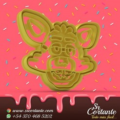 0658.jpg Download STL file THEME ANIMATRONIC COOKIE CUTTERS - COOKIE CUTTER • 3D printable object, SrCortante