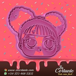0326.jpg Download STL file THEME LOL DOLL COOKIE CUTTER - COOKIE CUTTER • 3D printer object, SrCortante