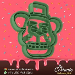 0657.jpg Download STL file THEME ANIMATRONIC COOKIE CUTTERS - COOKIE CUTTER • 3D printable object, SrCortante