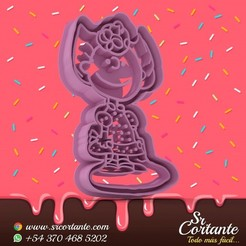 0578.jpg Download STL file THEME SNOOPY COOKIE CUTTER - COOKIE CUTTER • 3D printing model, SrCortante