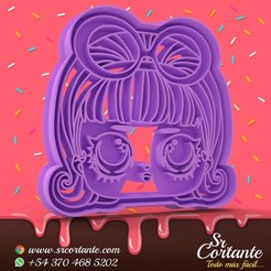 0323.jpg Download STL file THEME LOL DOLL COOKIE CUTTER - COOKIE CUTTER • 3D printer object, SrCortante