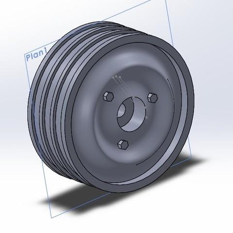 jante 3d.jpg Download free STL file Rim 2 HP 1/10 R/C Tamiya M-chassis • Model to 3D print, Michael_moi