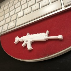 3D printer models Fortnite - Scar Keychain!!, Coorbin