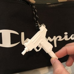 3d printer designs Micro Uzi keychain!, Coorbin