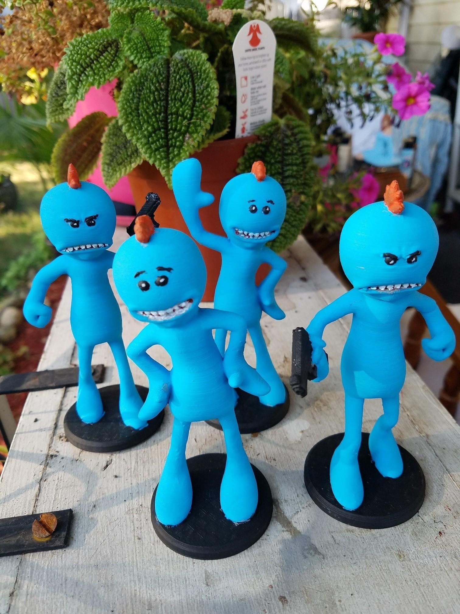 20170815_183518.jpg Download free STL file Rick and Morty assortment of Mr. Meeseeks • 3D printable model, Anthrobones