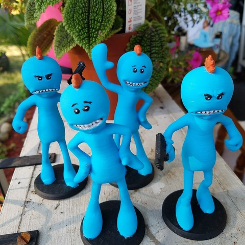 Télécharger fichier STL gratuit Richard et Morty assortiment de M. Meeseeks, Anthrobones