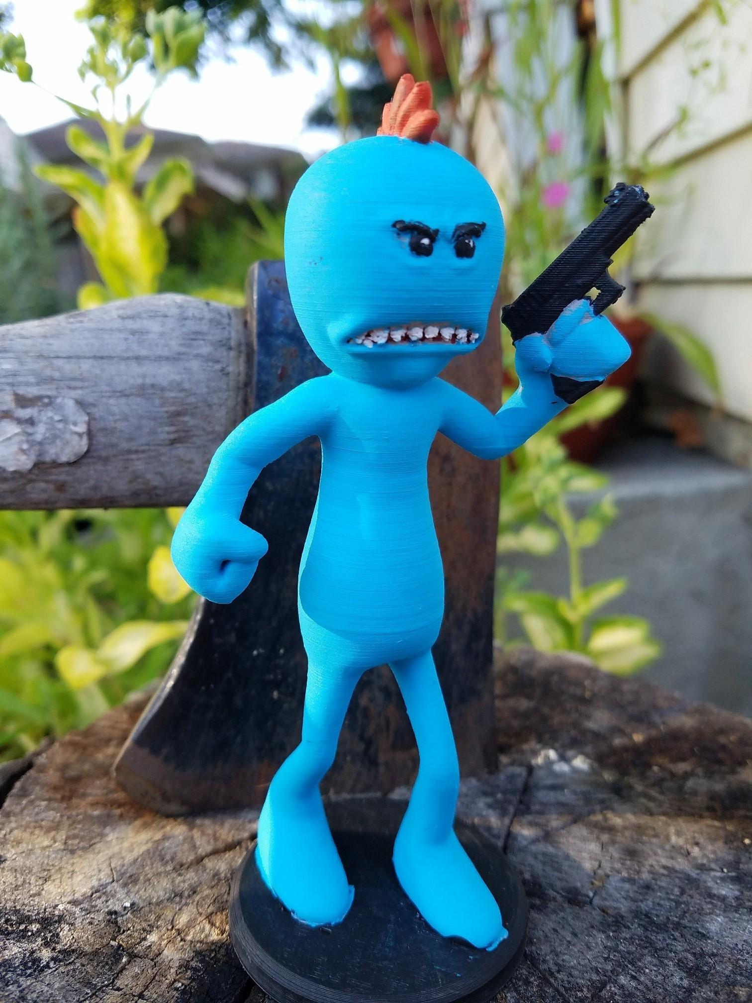 20170815_183257.jpg Download free STL file Rick and Morty assortment of Mr. Meeseeks • 3D printable model, Anthrobones