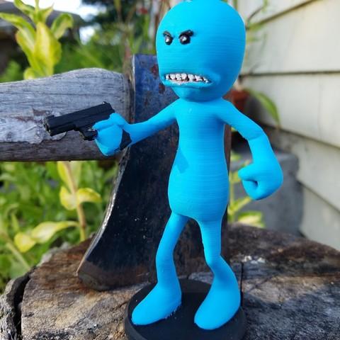 20170815_183226.jpg Download free STL file Rick and Morty assortment of Mr. Meeseeks • 3D printable model, Anthrobones