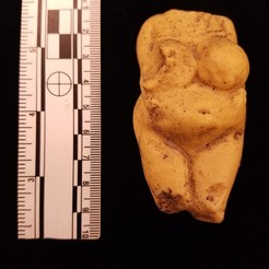 3D printer files VENUS OF Kostenki - Borshevo, RUSSIA; Ancient PALEOLITHIC FEMALE FIGURINE, Anthrobones