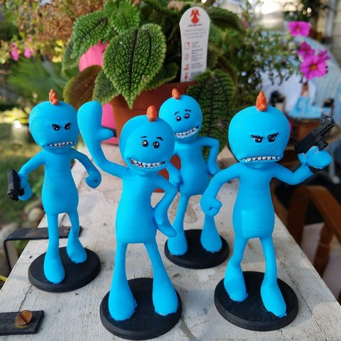 20170815_183423.jpg Download free STL file Rick and Morty assortment of Mr. Meeseeks • 3D printable model, Anthrobones