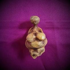 3D printer models VENUS OF GARGARINO, ANCIENT PALEOLITHIC FEMALE FIGURINE, Anthrobones