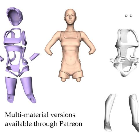 Nova_Power_Multimaterial channels_thingiverse.jpg Download free STL file Nova - Power pose • Design to 3D print, ThreeForm