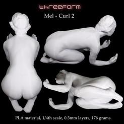 Mel Curl2_print preview_square.jpg Download STL file Mel - Curl2 pose • 3D printing model, ThreeForm