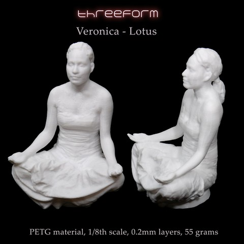 Download STL file Verónica - Lotus pose • 3D printer model, ThreeForm