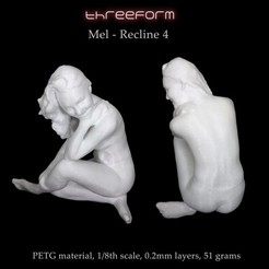 Download 3D model Mel - Recline4 pose, ThreeForm