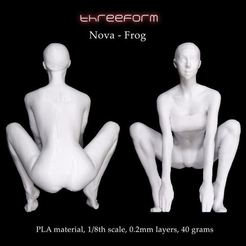3D print files Nova - Frog pose, ThreeForm