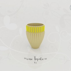 vase_topale_v1_present01.jpg Download STL file Topal Vase V.1 • 3D printer object, Tibe-Design