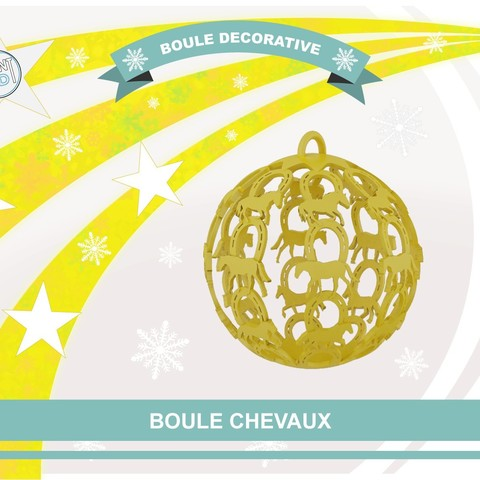 Free STL file Horses Decorative Ball, Tibe-Design