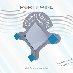 portomine_miroir_face_to_face01.jpg Download STL file Mirror & pegs Portomine Face to Face • Template to 3D print, Tibe-Design