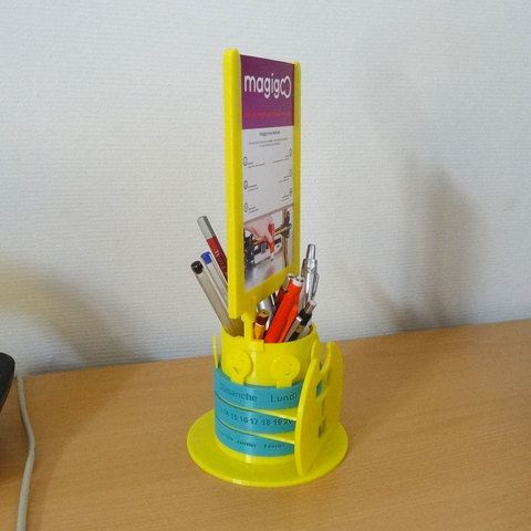 calendremo03.jpg Download free STL file Calendrémo pencil pot & photo stand • 3D print design, Tibe-Design