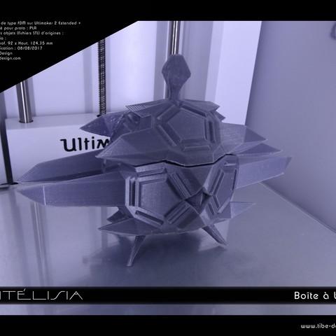 Télécharger plan imprimante 3D Boîte Antélisia, Tibe-Design