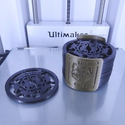"""Download 3D print files Under glass """"The Cats"""", Tibe-Design"""
