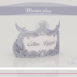 m_p_communion_present01.jpg Download STL file Brand-place Communion • 3D print template, Tibe-Design