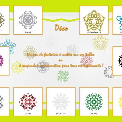 present_deco01.jpg Download STL file Hanging or standing decoration HM VR28 • 3D printable design, Tibe-Design