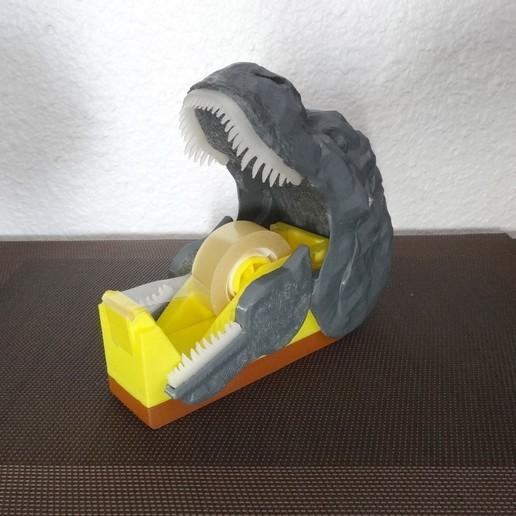 "DSC06914.JPG Download free STL file ""Monsteranimal T-Rex"" tape dispenser • 3D print design, Tibe-Design"